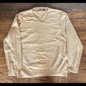 Yellow izod v-neck sweater large